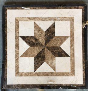 Mini Collection-#252, 4in, 18in and 24in, Stone names-Crema Marfil, Emperador Dark & Emperador Light